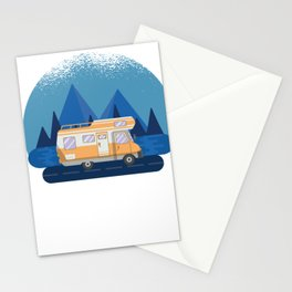 Happy Camper -  RV Camper Camping Moon Stationery Cards