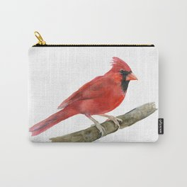Red Cardinal Watercolor Carry-All Pouch