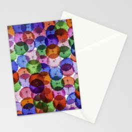 Umbrellas in the sky Stationery Cards