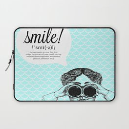 smile! (bright) Laptop Sleeve
