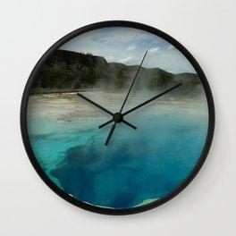 The Emerald Pool Colors Wall Clock