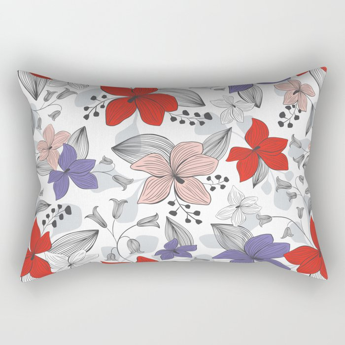 Avery White Rectangular Pillow