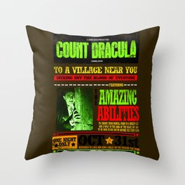 wanted poster Dracula Throw Pillow