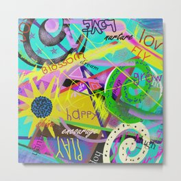 happy graffitti Metal Print