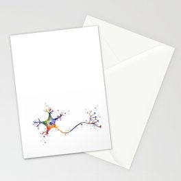 Neuron Art Brain Cell Biology Art Watercolor Neurology Medical Science Art Biology Gift Stationery Cards