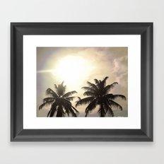 Palm Lovers Framed Art Print