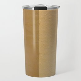 Imperfect Smooth VS Orange Peel Textures Minimalism Earth Tone Art - Corbin Henry Travel Mug