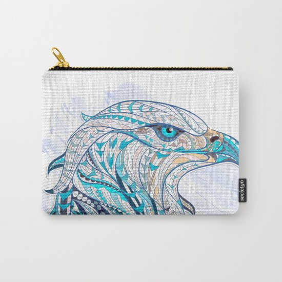 Blue Ethnic Eagle Carry-All Pouch