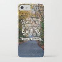 bible verse iPhone & iPod Cases featuring Joshua 1 verse 9 - Typographic Bible Verse by Encouraging Verses UK