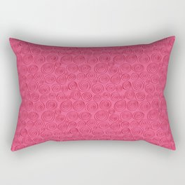 Spiralling pattern pink Rectangular Pillow