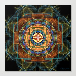 The Sri Yantra - Sacred Geometry Canvas Print