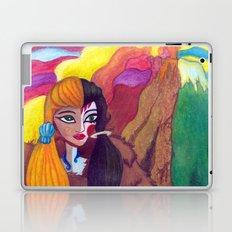 Somewhere Between Good & Evil {Mixed Media: watercolor, gouache, acrylic} Laptop & iPad Skin