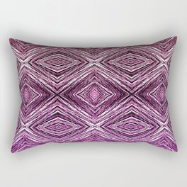 Memories of Woven Grass, Plum Rectangular Pillow