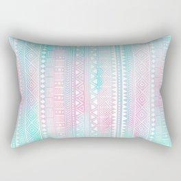 Hand Drawn African Patterns - Pastel Pink & Turquoise Rectangular Pillow