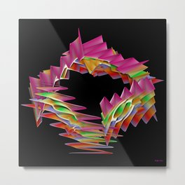 Ribbon Candy Metal Print