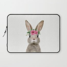 Baby Rabbit with Flower Crown Laptop Sleeve