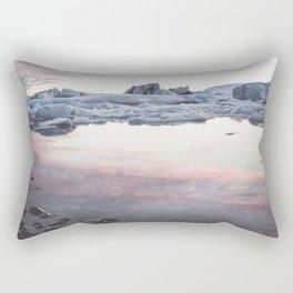 Jokulsarlon Lagoon - Sunset - Landscape and Nature Photography Rectangular Pillow