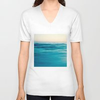 blues V-neck T-shirts featuring blues by Bonnie Jakobsen-Martin
