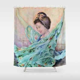 Free At Last! by Marianne Fadden Shower Curtain
