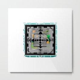 Bold Abstract Texture Study Metal Print