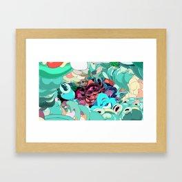 Diving In A Sea Of Light Framed Art Print