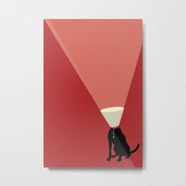 Lamp Dog Metal Print