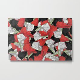 YZY II - Red October, Solar Red, Pure Platinum Metal Print