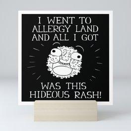 Allergy Land - Black on White Mini Art Print