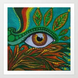 eye in the woods Art Print