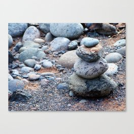 Rock Cairn Canvas Print