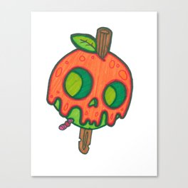 Mini toffee apple skull Canvas Print