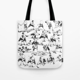 Vintage Wrestling Moves Tote Bag