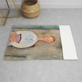 "Amedeo Modigliani ""Girl with a Polka-Dot Blouse (Jeune fille au corsage à pois)"" Rug"