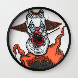 Mutant Clown Wall Clock