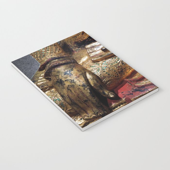 Golden Buddha Hand Mudra Notebook