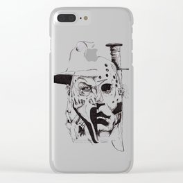 80's Horror Icons Inktober Drawing Clear iPhone Case