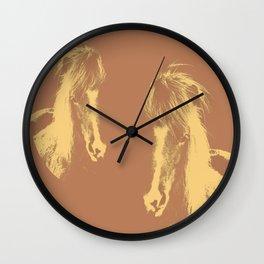 Double Pony Wall Clock
