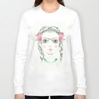 frida kahlo Long Sleeve T-shirts featuring frida kahlo by Lisa Bulpin