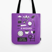 ouat Tote Bags featuring OUAT - A Wizard by Redel Bautista