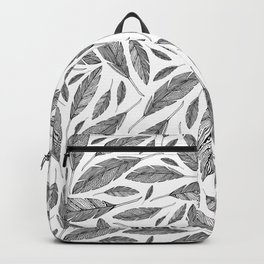 Float Like A Feather - White Backpack