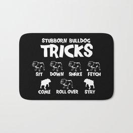 Bulldog Tricks Bath Mat