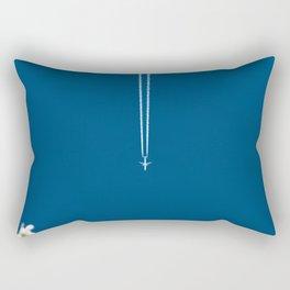 Jetset - Bluest Blue Rectangular Pillow