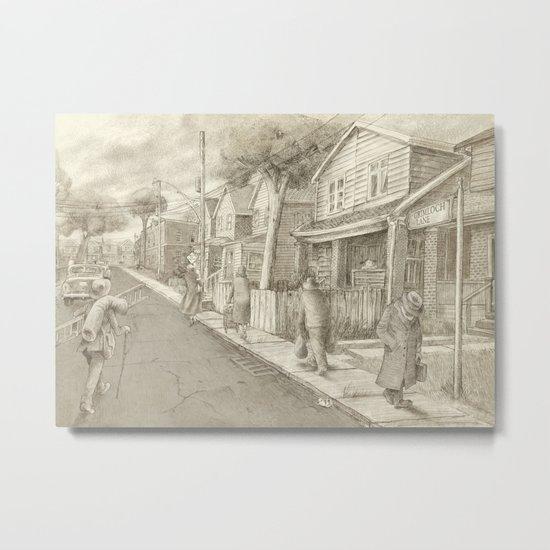 The Night Gardener - Grimloch Lane  Metal Print