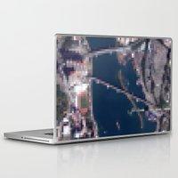 hong kong Laptop & iPad Skins featuring Hong Kong  by Mark John Grant