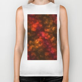 Abstract Autumn Leaves in Red Orange Biker Tank