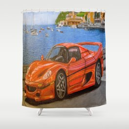 Sport car Shower Curtain