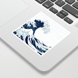 The Great Wave - Halftone Sticker