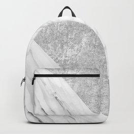 Grey / White Marble Backpack