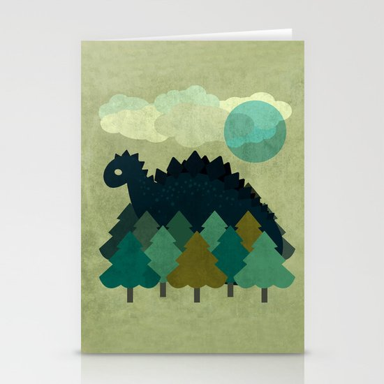 BLUE DINO Stationery Cards
