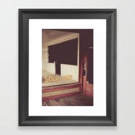 Sold Here Framed Art Print